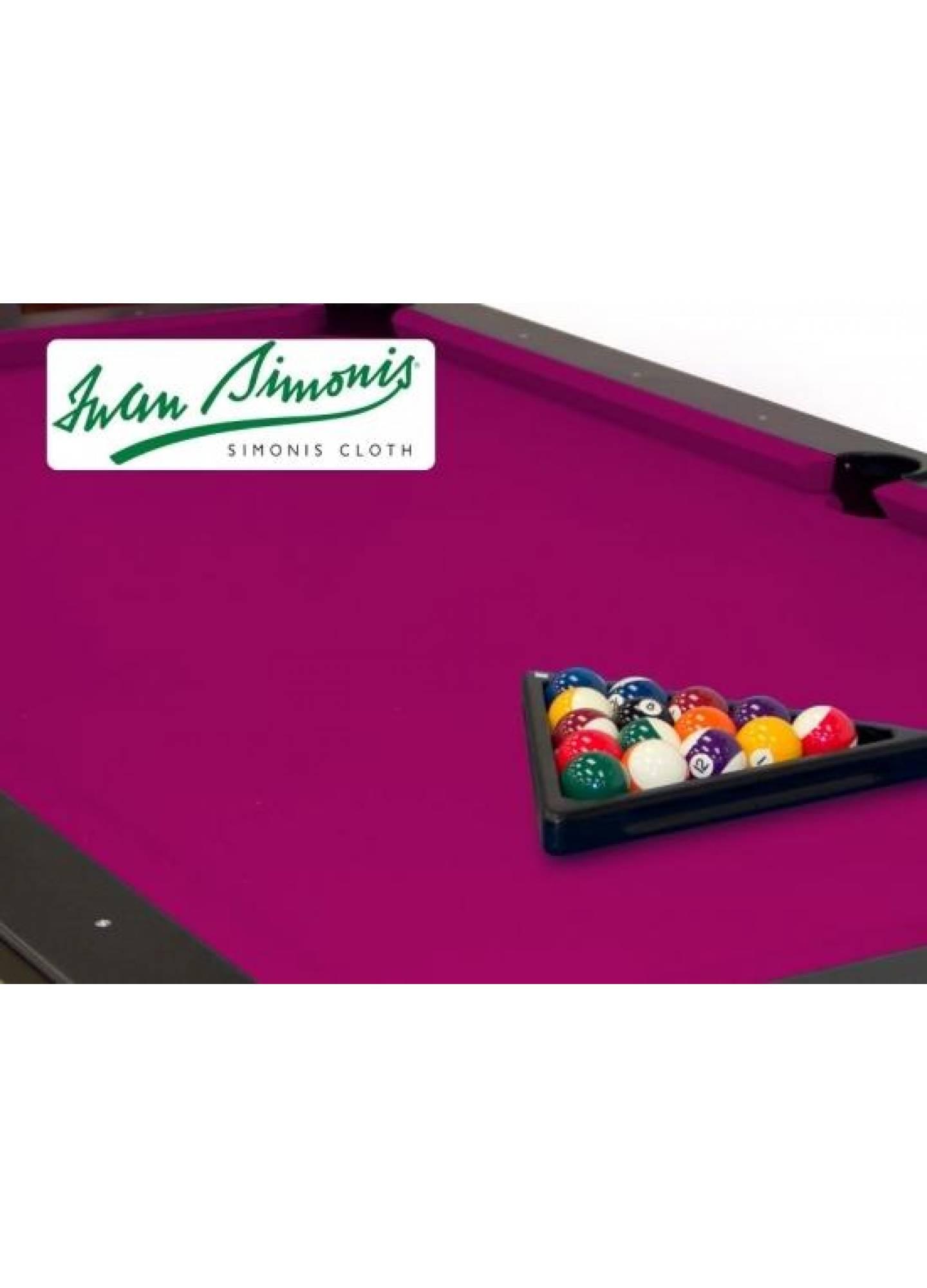 SIMONIS 760 FUCHSIA 9FT POOL TABLE CLOTH