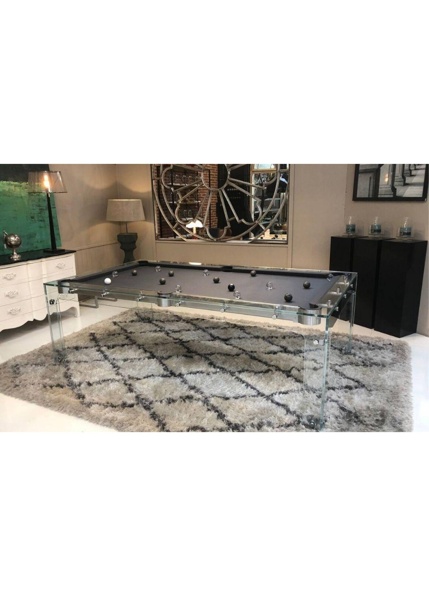 TOULET CARAT GLASS POOL TABLE